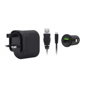 BELKIN COMPLETE PACK CHARGER KIT - MICRO DATA CABLE + CAR CHARGER + MAINS CHARGER