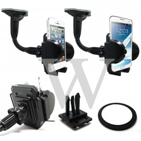 360 Degree Rotate In Car Mount Screen Holder Suction + DashBoard + Air Vent Holder - Universal