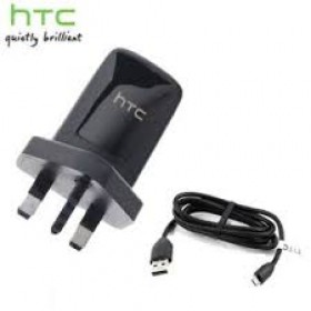 HTC TC-250 MAINS CHARGER PLUG WITH MICRO USB DATA CABLE - BLACK