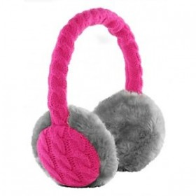 New Kitsound Winter Furry OnEar Audio Headband Headphone Earmuffs-Pink